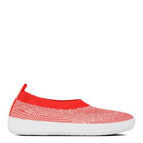 FitFlop Hot Coral Uberknit  Slip On Ballerinas