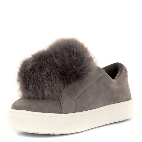 3088d40aa Sam Edelman Grey Suede Leya Pom Pom Sneakers. prev