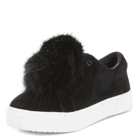 fce275dee Black Suede Leya Pom Pom Sneakers - BrandAlley