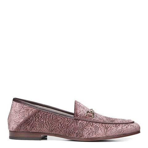 Sam Edelman Pink Embossed Floral Velvet Loraine Bit Loafer