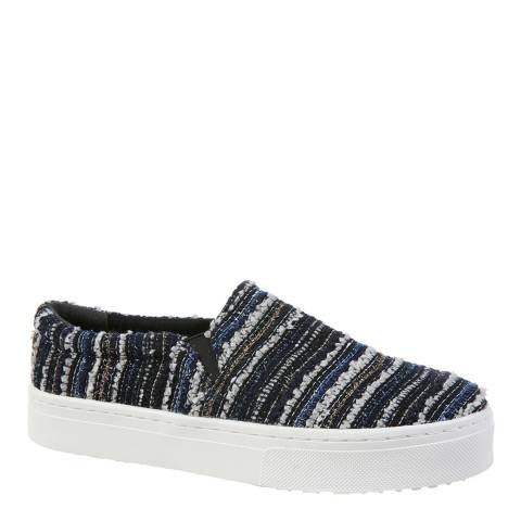 Sam Edelman Navy Striped Boucle Lacey Slip On Sneakers