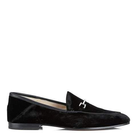 Sam Edelman Black Silk Velvet Loraine Loafers