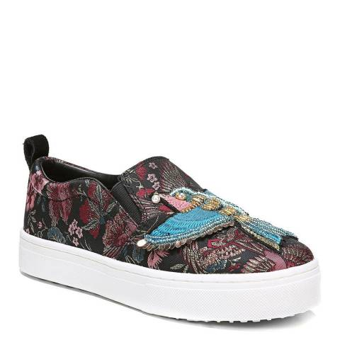 Sam Edelman Black Jacquard Majestic Bird Leila Sneakers