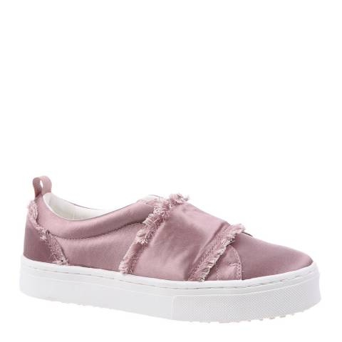 Sam Edelman Pink Satin Levine 2 Fray Sneakers