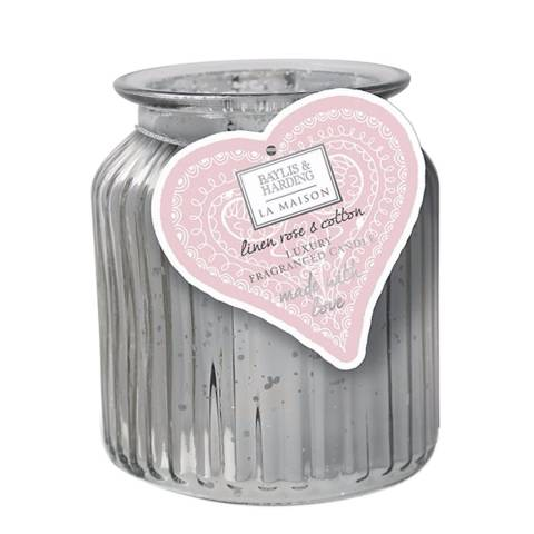 Baylis & Harding La Maison Linen Rose & Cotton 1 Wick Candle