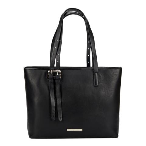Amanda Wakeley Black Leather The Dean Shoulder Bag