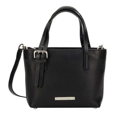 Amanda Wakeley Black Leather The Mini Dean Crossbody Bag