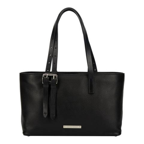 Amanda Wakeley Black Leather The East West Dean Handbag