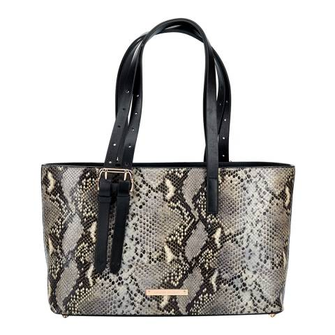 Amanda Wakeley Grey Python Print Leather The East West Dean Handbag