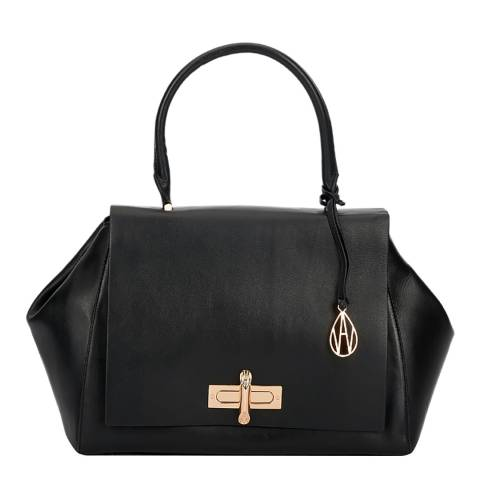 Amanda Wakeley Black Leather The Cagney Handbag