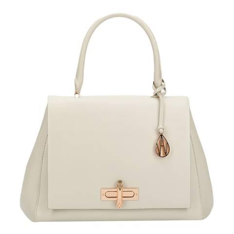 Amanda Wakeley Cream Leather The Cagney Handbag
