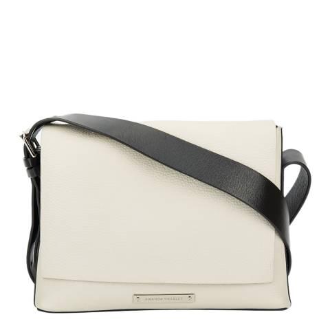 Amanda Wakeley Cream Leather Small The Nicholson Crossbody Bag