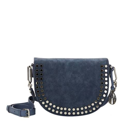 Amanda Wakeley Denim Leather The Cooper Crossbody Bag