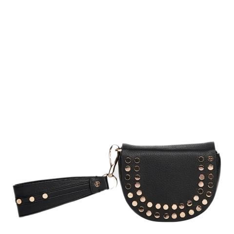 Amanda Wakeley Black Leather The Mini Cooper Purse