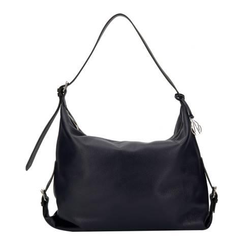 Amanda Wakeley Navy Leather The Costner Shoulder Bag