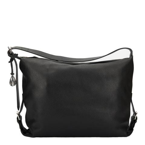Amanda Wakeley Black Leather The Costner Shoulder Bag