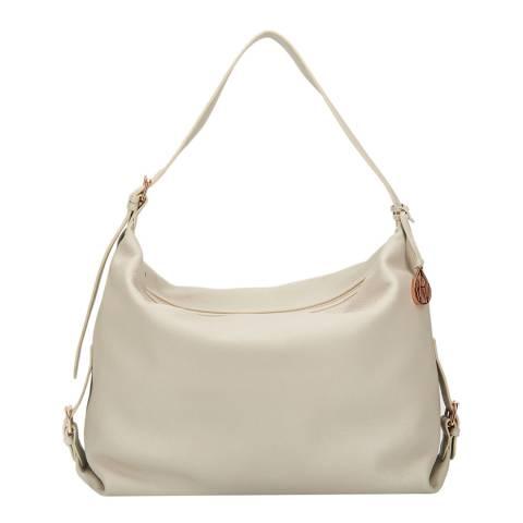 Amanda Wakeley Cream Leather The Costner Shoulder Bag