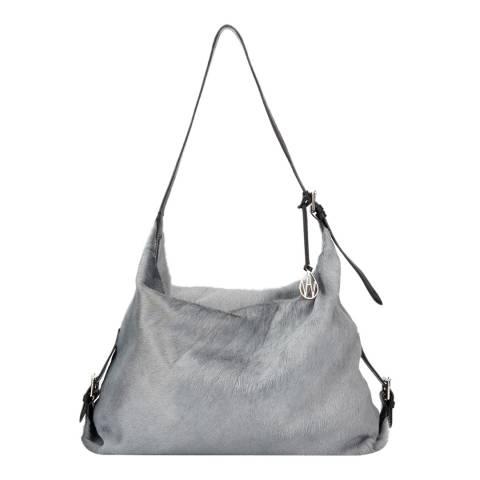 Amanda Wakeley Grey Leather The Costner Shoulder Bag