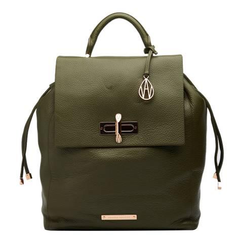 Amanda Wakeley Khaki Leather The Elba Backpack