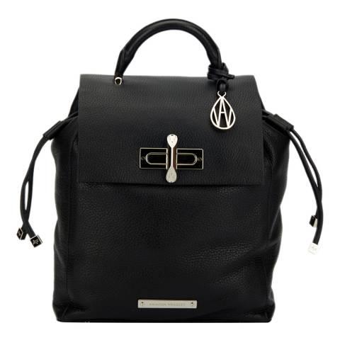 Amanda Wakeley Black Leather The Mini Elba Backpack