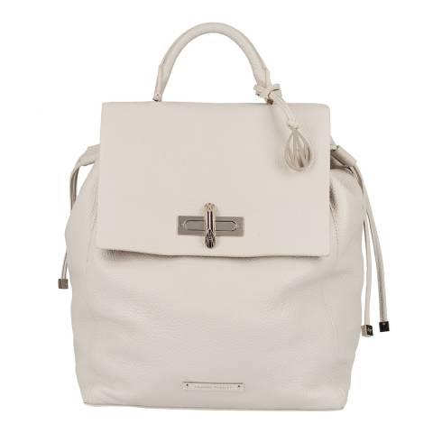 Amanda Wakeley Cream Leather Pony Fur The Mini Elba Backpack