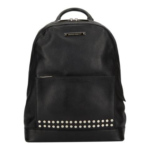 Amanda Wakeley Black Leather The Flynn Backpack
