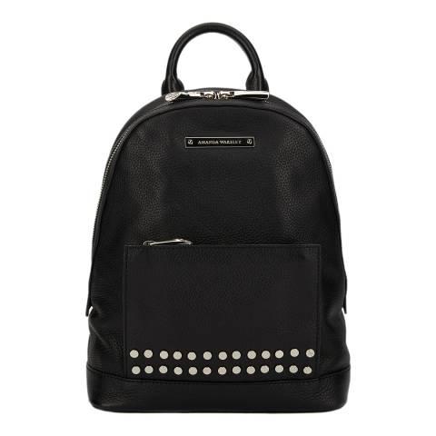 Amanda Wakeley Black Leather The Mini Flynn Backpack