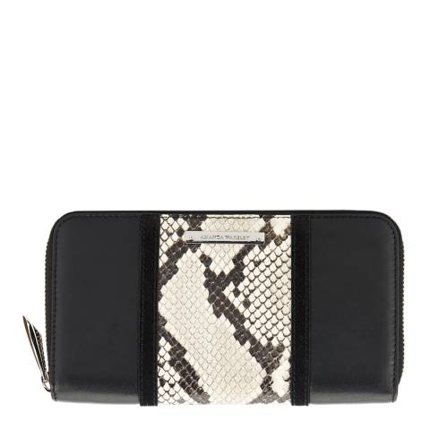 Amanda Wakeley Black/Python Print Leather The Stripe Dylan Purse