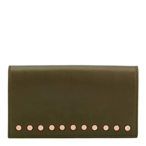 Amanda Wakeley Khaki Leather The Lennon Purse