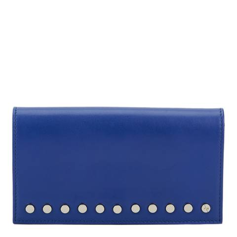 Amanda Wakeley Blue Leather The Lennon Purse
