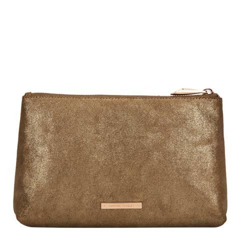Amanda Wakeley Gold Leather The Large Mercury Bag