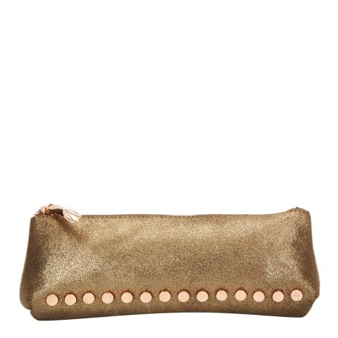 Amanda Wakeley Gold Leather The Mercury Cosmetic Bag