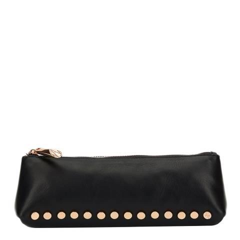 Amanda Wakeley Black Leather The Mercury Cosmetic Bag