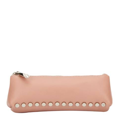Amanda Wakeley Pale Pink Leather The Mercury Cosmetic Bag