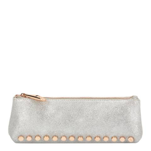 Amanda Wakeley Silver Leather The Mercury Cosmetic Bag