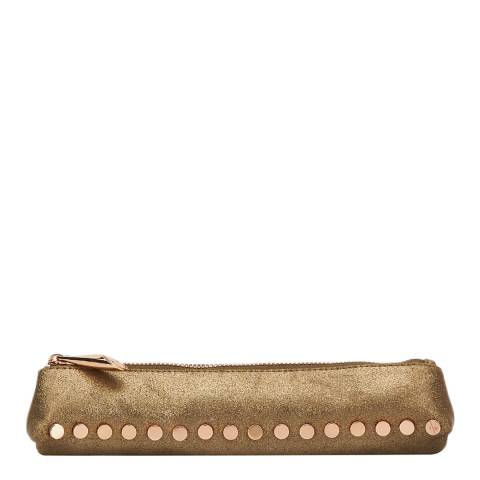Amanda Wakeley Gold Leather Small The Mercury Cosmetic Bag
