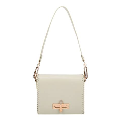 Amanda Wakeley Cream Leather The Costello Shoulder Bag