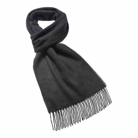 Bronte by Moon Black Plain Scarf