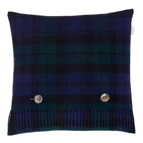 Bronte by Moon Black Watch Cushion Cover and Scarf