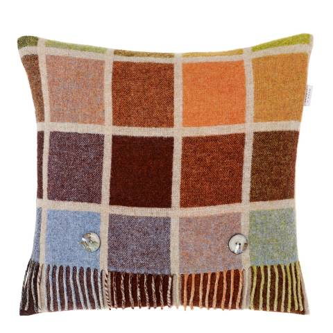 Bronte by Moon Beige/Multi Multiblock Cushion Cover and Stole