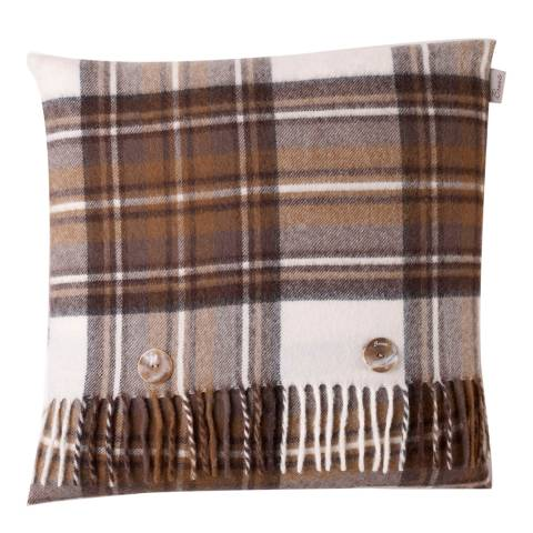 Bronte by Moon Natural Dress Stewart Cushion Cover and Scarf