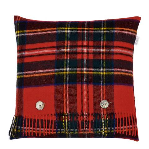 Bronte by Moon Red Royal Stewart Cushion Cover and Scarf