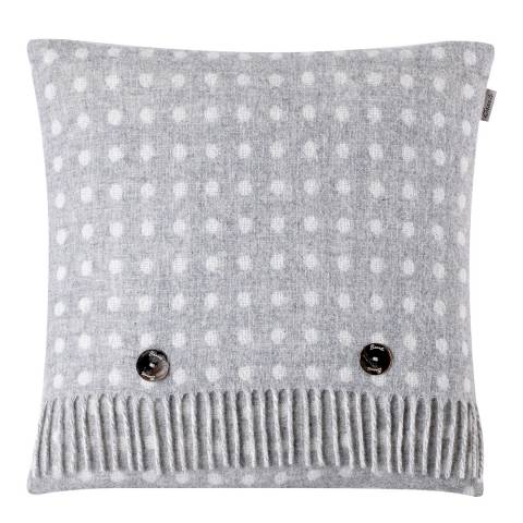 Bronte by Moon Grey Spot Cushion Cover and Scarf