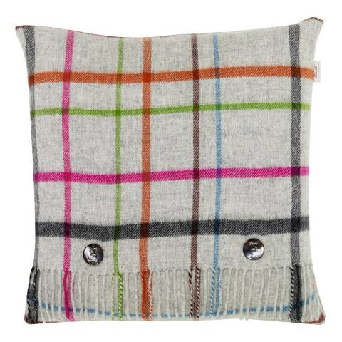Bronte by Moon Grey/Multi Windowpane Cushion Cover and Scarf