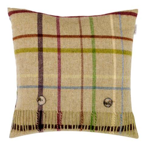 Bronte by Moon Pistachio/Multi Windowpane Cushion Cover and Scarf