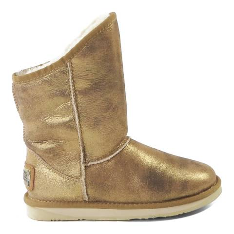 Australia Luxe Collective Old Gold Leather Cosy Short Boots
