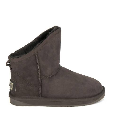 Australia Luxe Collective Dark Brown Suede Cosy X-Short Boots