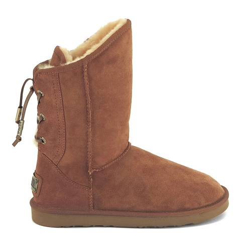 Australia Luxe Collective Chestnut Suede Dita Short Boots