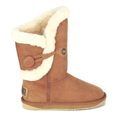 Australia Luxe Collective Chestnut Suede Nordic Shearling Boots