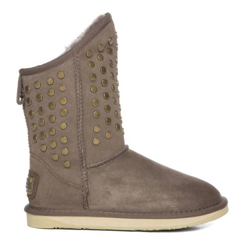 Australia Luxe Collective Brown Suede Pistol Stud Boots